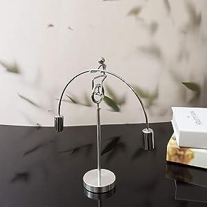 Physics Balancing Art Desk Decor and Stress Relief Office Fidget Toy, Dynamic Balance Tumbler for Desk Gadgets-Unicycle Balance Man