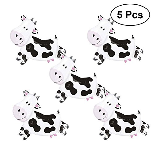 TOYMYTOY 10 Pcs Mini Cow Balloons Foil Balloons,Cute Animal Balloon for Wedding Birthday Party Decorations