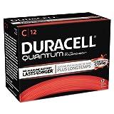 Duracell Quantum Alkaline Batteries with Duralock Power Preserve Technology, C, 72/Pk