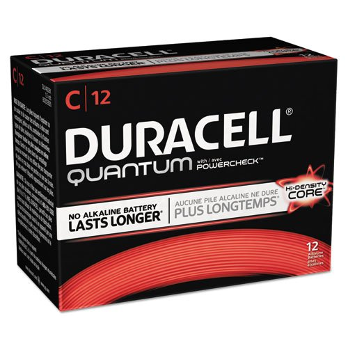 Duracell Quantum Alkaline Batteries with Duralock Power Preserve Technology, C, 72/Pk by Duracell