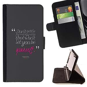 BullDog Case - FOR/LG Nexus 5 D820 D821 / - / pink love quote grey text message /- Monedero de cuero de la PU Llevar cubierta de la caja con el ID Credit Card Slots Flip funda de cuer
