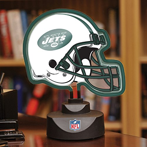 NFL Neon Helmet Desk Lamp, JETS by The Memory Company