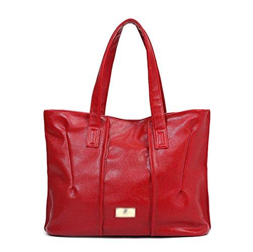 Mujer Nuevo Bolso De Mano Europa Moda Simple En Relieve Solo Hombro Red