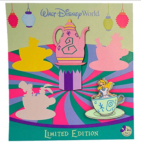 Trading Pin - WDW - Annual Passholder Quarterly - Alice in Wonderland Teacups - Alice