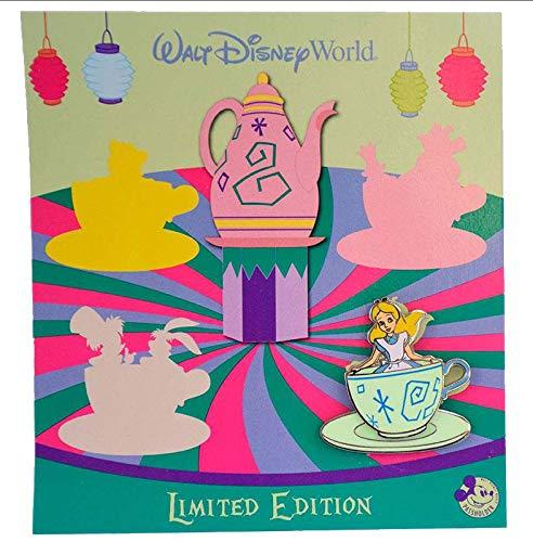 (Trading Pin - WDW - Annual Passholder Quarterly - Alice in Wonderland Teacups - Alice)