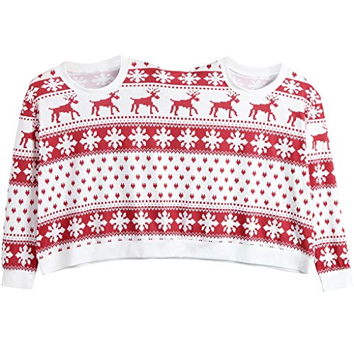 Two Person Unisex Couples Print Pullover Novelty Christmas Blouse Top Shirt -