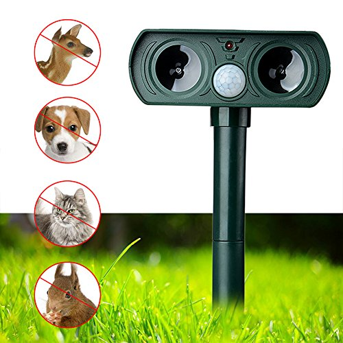 Xnferty Animal Repellent, Solar Powered Ultrasonic Outdoor Animal and Pest Control with Motion Sensor Stops Animals from Destroying Your Gardens, Patio, Yard by Xnferty