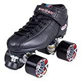 Riedell Skates - R3 - Quad Roller Skate for Indoor / Outdoor | Black | Size 9