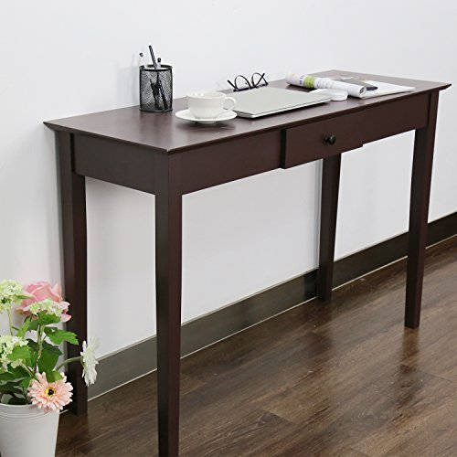 Kinbor Wood Rochester Console Sofa Table with One Drawer Storage