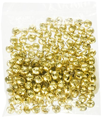 ArtVerse Jingle Bells 1/4-Inch, 144/Pkg, Gold - Ornament Gold Bell