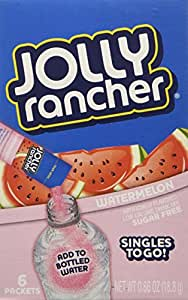 Jolly Rancher Singles-To-Go Sugar Free Watermelon Drink Mix, 6-ct (Pack of 6)