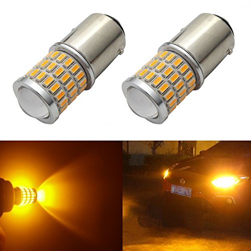 Ibrightstar Newest 9-30v Super Bright Low Power 1157 2057 2357 7528 Bay15d Led Bulbs With Projector