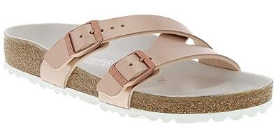 e8ecc08eb21934 Birkenstock Women s Yao Hex Sandal Metallic Copper Birko-Flor Size 36 ...
