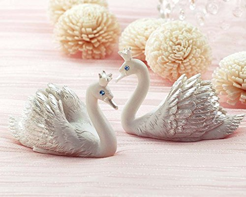 MEOLY Place Card Holder Resin Swan Style Card Clamp Stand Table Note Memo Picture Photo Name Card Clip Holder for Lawn Wedding Party Favor Deco Set of 10pcs