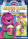 Barney Movie Pack: 3-DVD Set (Jungle Friends / Animal ABCs / Lets Go On Vacation)
