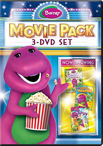 Barney Movie Pack: 3-DVD Set (Jungle Friends / Animal ABCs / Let's Go On Vacation) ()