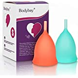 Bodybay Menstrual Cup,Set of 2 Periods Kit with FDA Registered,Best Feminine Alternative Protection to Tampons and Cloth…