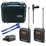 Sennheiser EW100ENG G3 Camera Wireless Mic Kit (A) w/ SKB Hard Case & Cable Ties