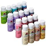 Apple Barrel Acrylic Paint Set, 18 Piece (2-Ounce), PROMOABII Best Selling Colors II
