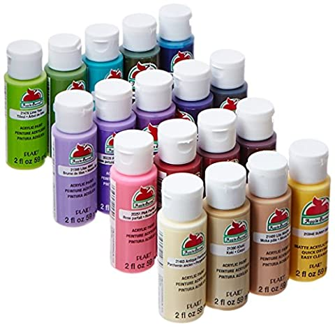 Apple Barrel Acrylic Paint Set, 18 Piece (2 Ounce), PROMOABII Best Selling Colors II (Paint & Wall Covering Supplies)