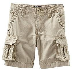 OshKosh B'gosh Cargo Shorts (Baby) - Brown-9 Months
