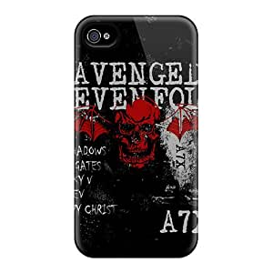 Iphone 4/4s VwS5577QPqu Unique Design High Resolution Avenged Sevenfold Pattern Shock Absorption Hard Phone Cover -PhilHolmes