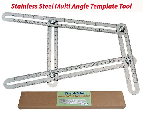 Pumpkin Trace Patterns (Template Tool-Measures All Angles and Forms-Stainless Steel  Template Tool for DIY, Handymen, Builders, Carpenters, Craftsmen, Contractors, Roofers &Tilers)