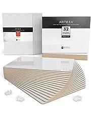Pack de 32 tableaux blancs ARTEZA | Ardoise blanche effaçable 22,5 x 30 cm | Petite ardoise portable | Idéal pour étudiants et professeurs | Parfait pour le bureau et les événements