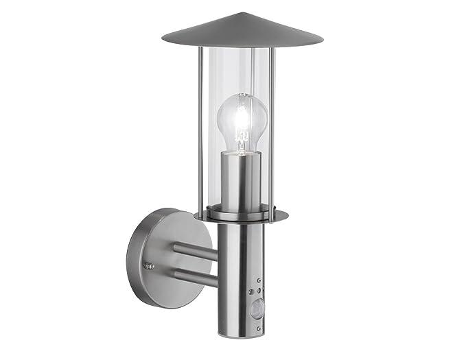 Elegante lámpara de pared/exterior lámpara Farol Villa con filamento de bombillas LED y detector