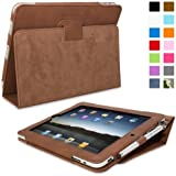 Snugg iPad 1 Case - Cover with Flip Stand & Lifetime Guarantee (Distressed Brown Leather) for Apple iPad 1