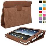 Snugg-Étui en cuir avec fonction support et stylet capacitif pour iPad mini, couleur BLEU marron marrón - marrón iPad 1
