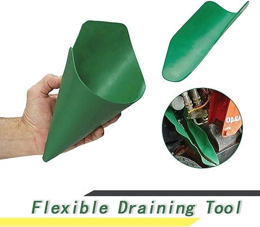Flexible Funnel Oil Draining Tool Extended Flexible Draining Funnel Tool Foldable Flexible Draining Tool Blue, 37x17cm
