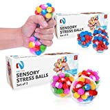 Stress-Relief Sensory Stress Balls by Nyft Toys | Squishy Stress Toys | Squeezing Rubber Ball for Autism, ADHD, ADD, Sensory Needs, Bad Habits | The Calming Fidget Toy for Kids and Adults | 3 Pack