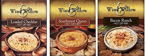 Wind & Willow Hot Dip Mix Variety Pack - Bacon Ranch, Southwest Queso, and Loaded (Cheese Dip Mix)
