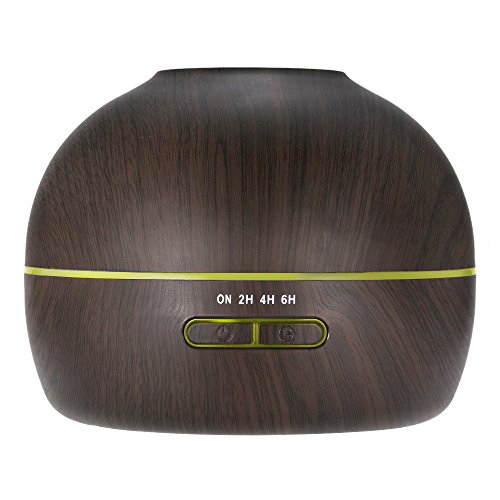 hysure Small Portable Diffuser for Essential Oils Baby Humidifier with Wood Grain Air humidifier for Kids, Home, Room, Spa, Desktop and Whole house, Deep