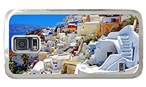Hipster Samsung Galaxy S5 Case sale cover Oia Santorini Greece PC Transparent for Samsung S5