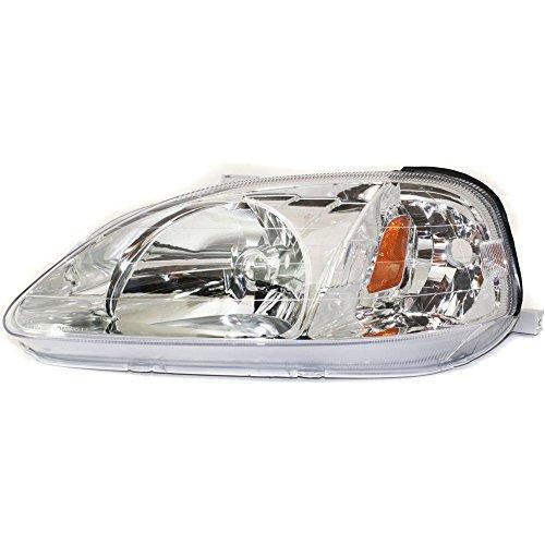 Headlight for Honda Civic 99-00 LH Lens and Housing Halogen Driver Side