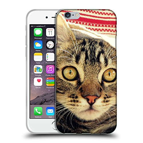 """Just Phone Cases Coque de Protection TPU Silicone Case pour // V00004215 chaton sous la serviette // Apple iPhone 6 6S 6G PLUS 5.5"""""""