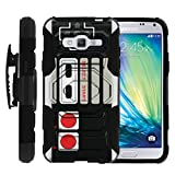 MINITURTLE Case Compatible w/ Galaxy Amp Prime Black Case, Express Prime Case, J3 Case, Galaxy Sol, J3V Case [Armor Reloaded] Rugged Impact Protector Game Controller Retro For Sale