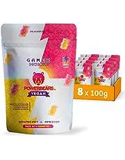 Powerbeärs Gamer Vegan Raspberry & Apricot with Guaraná & Caffeine (8x100g)