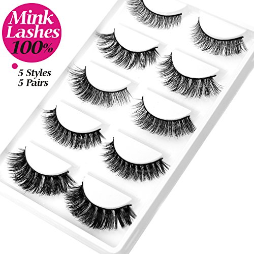 fc9b0f28c77 MINK 3D Lashes Thick Curly Fashion False Eyelash 5 Different Styles 5 Pairs/Pack  100