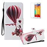 For Samsung Galaxy S8 Plus Case,Funyye 3D Colourful Premium Folio PU Leather Wallet Magnetic Flip Cover with [Wrist Strap] and [Credit Card Holder Slots] Full Body Protection Holster Case for Samsung Galaxy S8 Plus-Hot Air Balloon