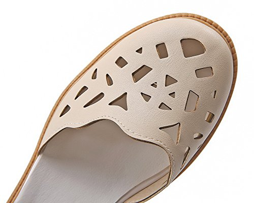 Talon d'orteil Fermeture Abricot Sandales Unie Couleur AgooLar Femme à GMBLA013093 Bas Boucle w6fU7qT