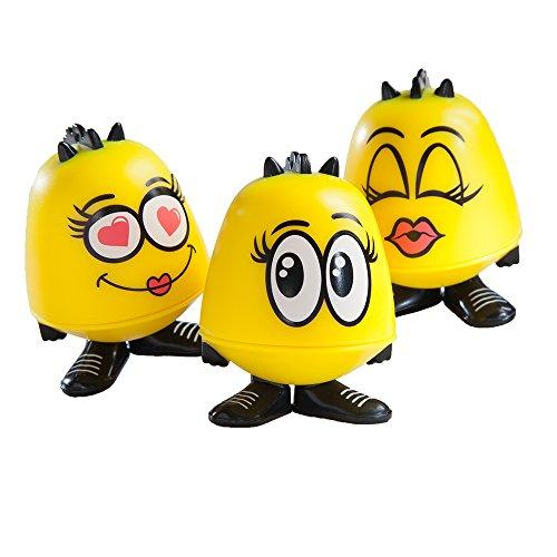 Emoji Goof Balms - Natural Kids Lip Balm + Moisturizing & Repair + Helps Prevent Cracked Lips + Strawberry Sorbet Chapstick + Fun Party Supplies + (6 Pack) by Goof Balms (Image #4)