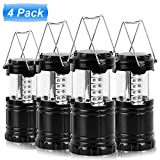 4 Pack Camping Lantern Camping Lights Camping Lamp by TSWA  Portable 30 LEDs Collapsible Outdoor LED Flashlights...
