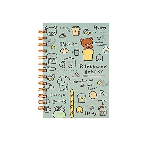 San-X Rilakkuma B6 College Ruled Spiral Notebook Note Pad : Bakery (Mint)