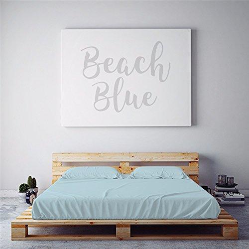 PeachSkinSheets Night Sweats: The Original Moisture Wicking, 1500tc Soft Regular King Sheet Set Beach Blue