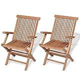 Vintage Folding Wooden Chairs for Sale mareeya shop Set of 2 Teak Wooden Folding Garden Outdoor Chair Terrace Patio Balcony