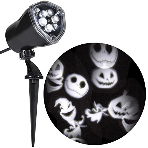 Gemmy Disney Jack Skellington Nightmare Before Christmas White Led Whirl-a-Motion Halloween Outdoor Stake Light Projector]()
