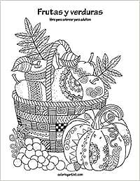 Frutas y verduras libro para colorear para adultos 1